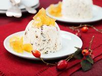 Lebkuchen-Eis mit Mangokompott