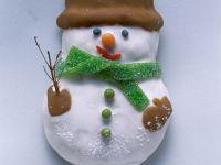 Lebkuchen-Schneemann
