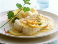 Lengfischfilet mit Zitronensauce