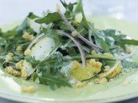 Linsen-Birnen-Salat mit Rucola