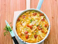 Makkaroni-Auflauf mit Tomaten und Käse
