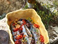 Makrelen mit Tomaten