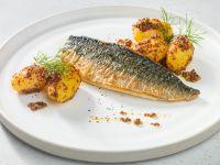 Makrelenfilet mit Dill-Senf-Kartoffeln