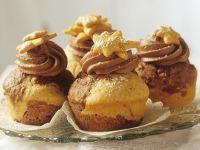Marmor-Muffins zu Weihnachten