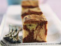 Marmorkuchen mit Schokoglasur