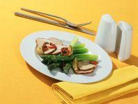 Marsala-Filet-Pfanne mit grünem Spargel
