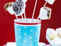 Marshmallow-Häppchen mit Schokolade