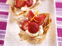 Mascarpone-Törtchen mit Erdbeeren