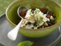 Mediterraner Kabeljau mit Oliven