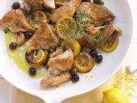 Mediterranes Hähnchen mit Zitrone