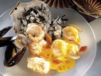 Meeresfrüchte mit Safransauce