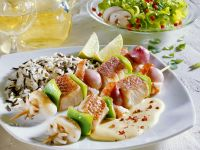 Meeresfrüchte-Spieße