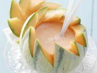 Melonen-Daiquiri in der Melone
