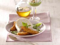 Milchreismousse mit gebackenen Minibananen
