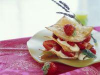 Millefeuilles mit Erdbeeren