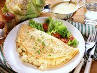 Mit Blumenkohl gefülltes Omelett