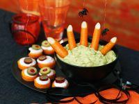 Möhren-Häppchen und Guacamole