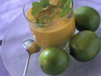 Möhrensuppe mit Ingwer und Limette