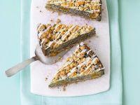 Mohnkuchen mit Mandarinen und Steuseln