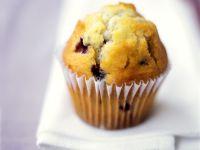 Muffin mit Himbeeren