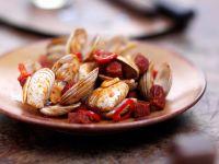 Muscheln mit spanischer Wurst