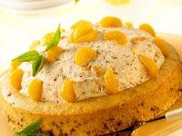 Nuss-Sahne-Torte mit Mandarinen