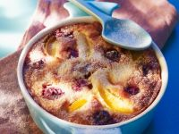 Ofenauflauf mit Kirschen, Pflaumen und Aprikosen