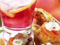 Ofenkartoffeln mit Lachs und Creme fraiche