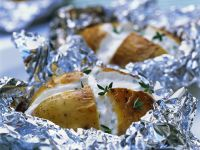 Ofenkartoffeln mit Quark