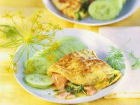Omelett mit Räucherlachs
