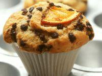 Orangenmuffin mit Schokoladentropfen