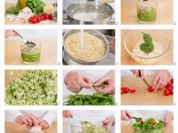 Orzosalat mit Huhn und Pesto