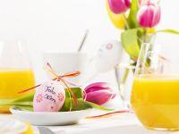 Osterbrunch – gedeckter Tisch