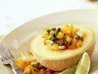 Papaya-Mango-Salat mit Hähnchen