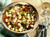 Paprika-Maissalat mit Käse