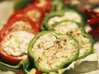 Paprika mit Feta-Füllung