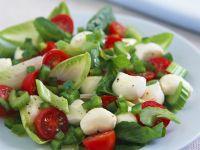 Paprika-Tomatensalat mit Mozzarella