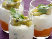Paprikacreme mit Kokoscreme und Rettich