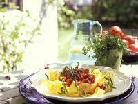 Pasta mit Gemüse-Rucolasauce