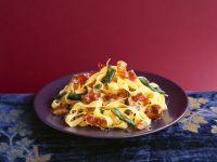 Pasta mit Schinken und Maroni