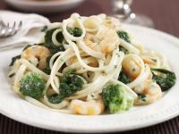 Pasta mit Shrimps und Brokkoli
