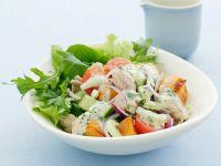 Patatesalat mit Rucola und Thunfisch