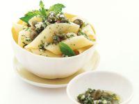 Penne mit Kapern-Sardellen-Pesto