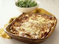 Pfannkuchengratin mit Schinken und Käse
