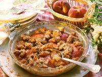 Pfirsich-Auflauf auf amerikanische Art