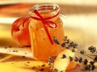 Pfirsich-Lavendel-Marmelade mit Vanille