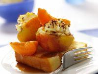 Pfirsiche mit Vanillecreme
