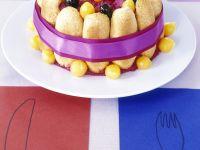 Pikante Charlotte mit Kartoffeln und roter Bete
