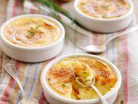 Pikante Crème Brulée mit Kartoffeln