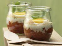 Pikante Eier im Glas